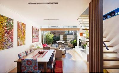 desain interior rumah minimalis sempit yang asri