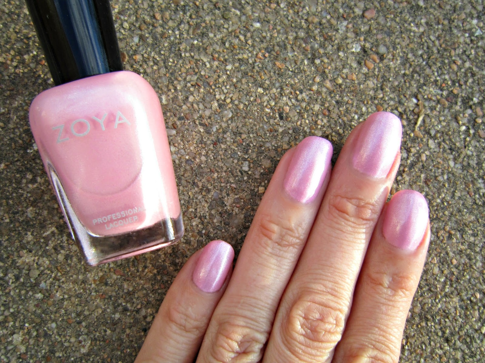 Concrete and Nail Polish: Pink