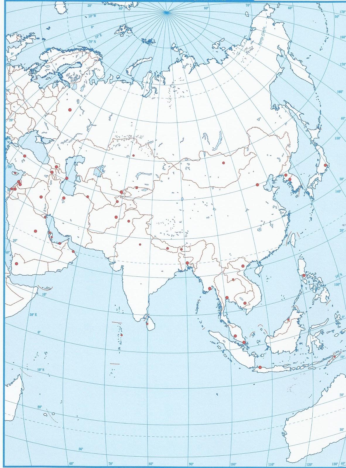 Mapa Esquematico De Asia