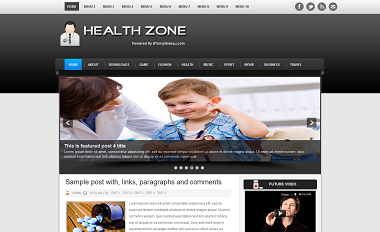 Health Zone Blogger Template