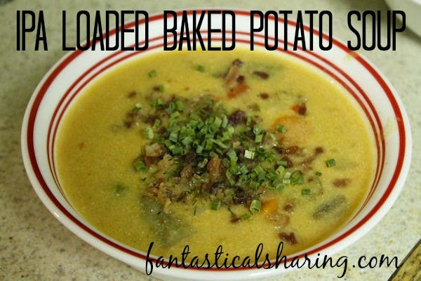 IPA Loaded Baked Potato Soup | Adding a whole layer of flavor with a little India Pale Ale to a delicious loaded potato soup #recipe #SamuelAdams