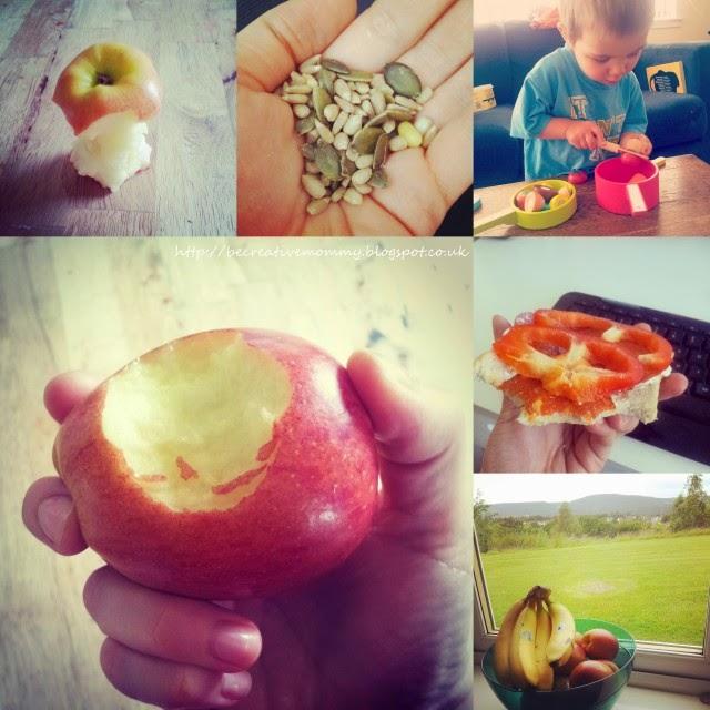 an apple, seeds #healtyweek