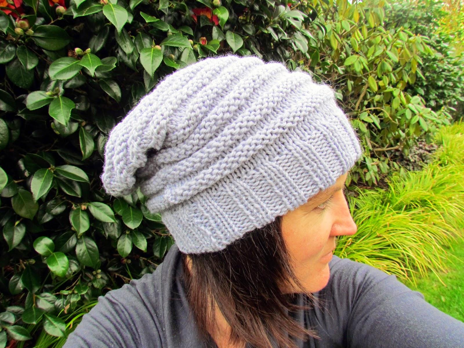 Knitting Pattern Floppy Beanie : A Slouchy Beanie