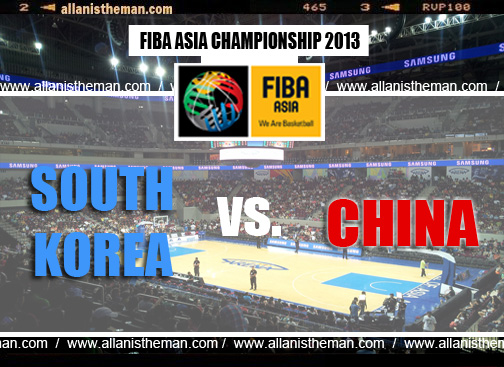 China vs South Korea Replay (FIBA Asia 2013)