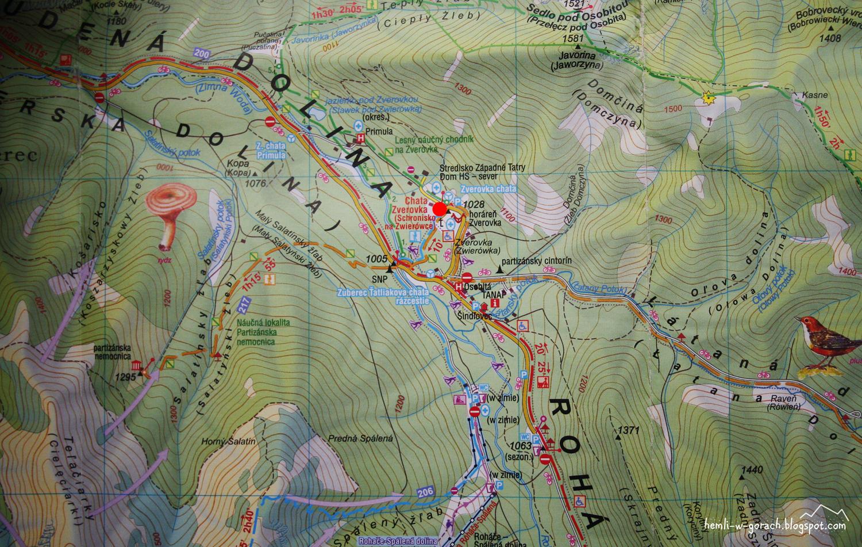Chata Zverovka - mapa