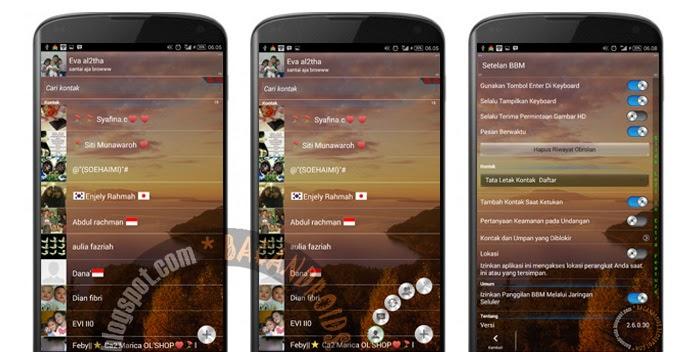 Download BBM Transparan Apk Terbaru Floating Main Tab