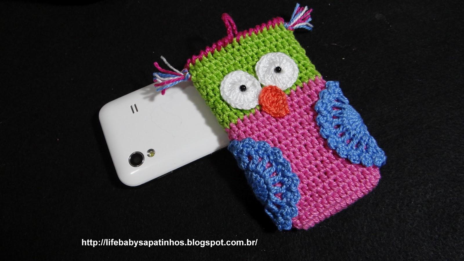 Чехол для телефона крючком сова схема