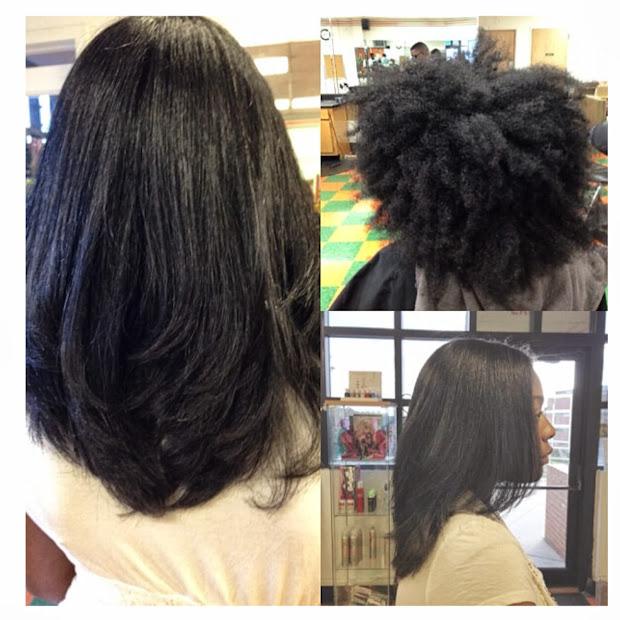 's real hair straightening