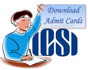 Download ICSI Admit Cards