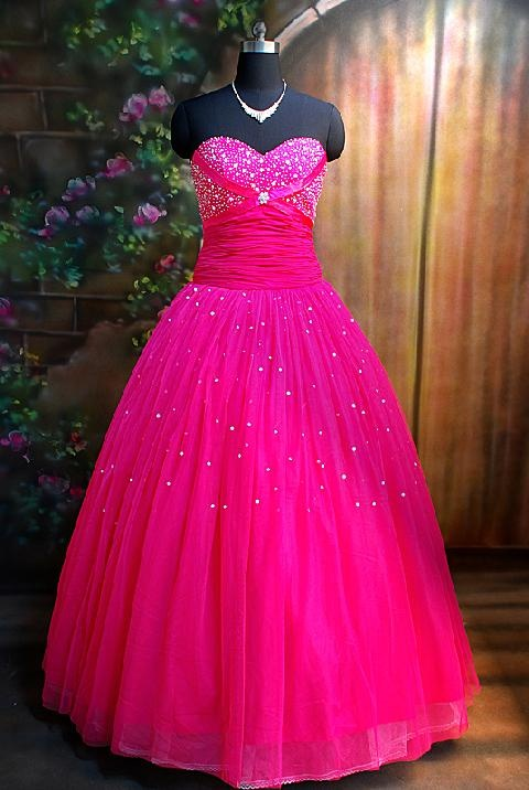 heart wedding dress hot pink wedding dress