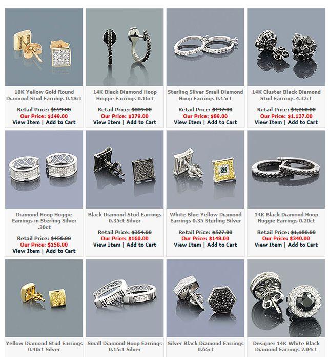 Mens Diamond Earrings