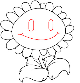 How To Draw Plants vs Zombies Sunflower Step 6