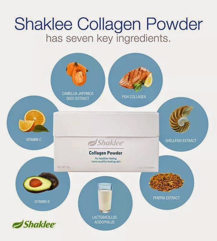 Bahan-bahan asas collagen powder shaklee