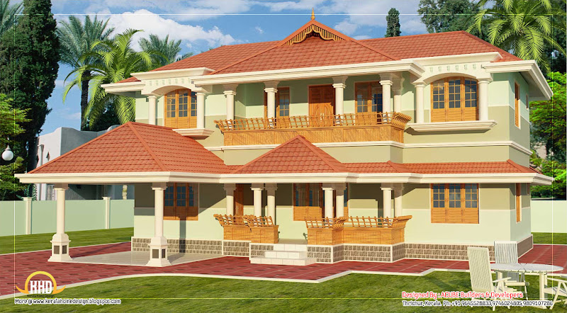 Kerala style 2 story home design - 2346 Sq. Ft. - March 2012 title=