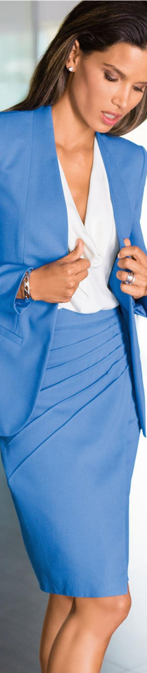 Madeleine Azure Blue Skirt and Blazer
