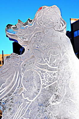 Ice Carving Wonder Woman