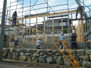 新築工事 棟上げ 上棟