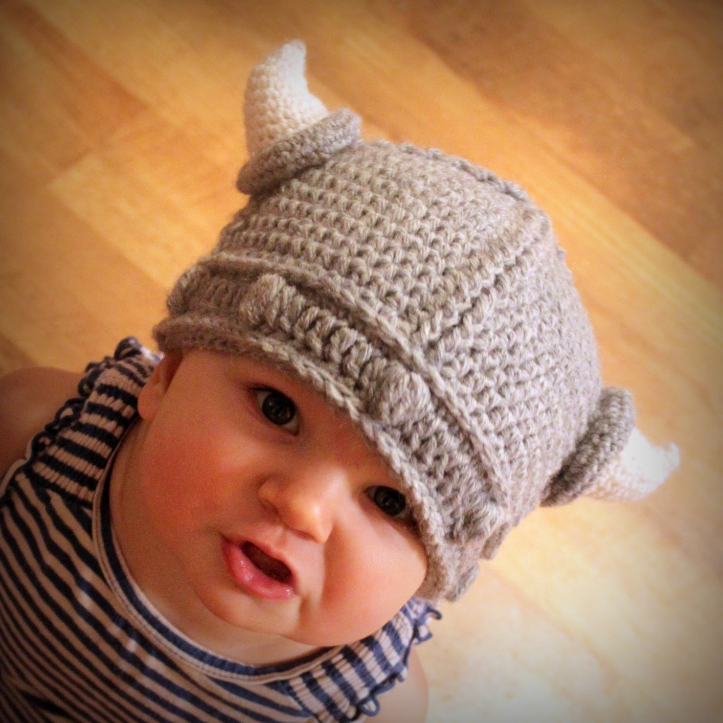 Viking Hat Knitting Pattern Free : Crochet For Free: Lael Viking Hat (Size Newborn - Adult)