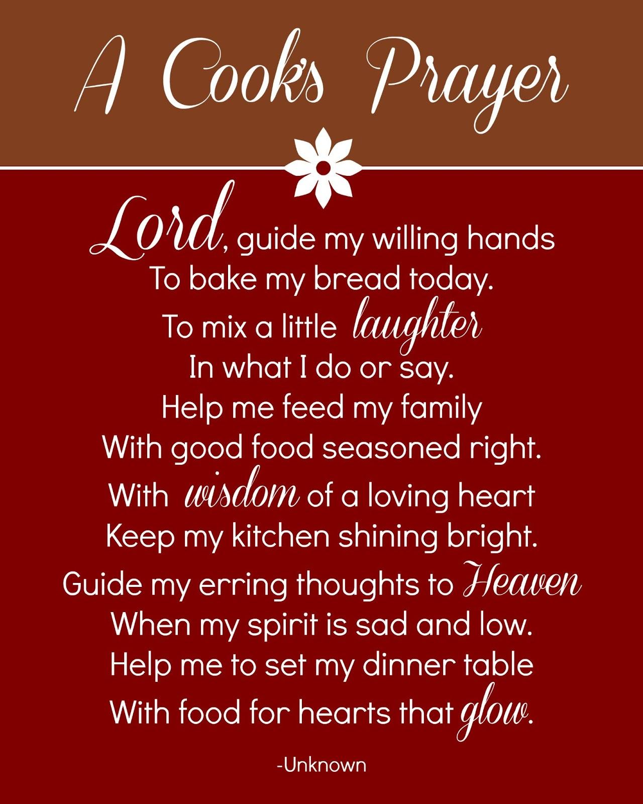 reorganized simplicity free printable a cook u0027s prayer