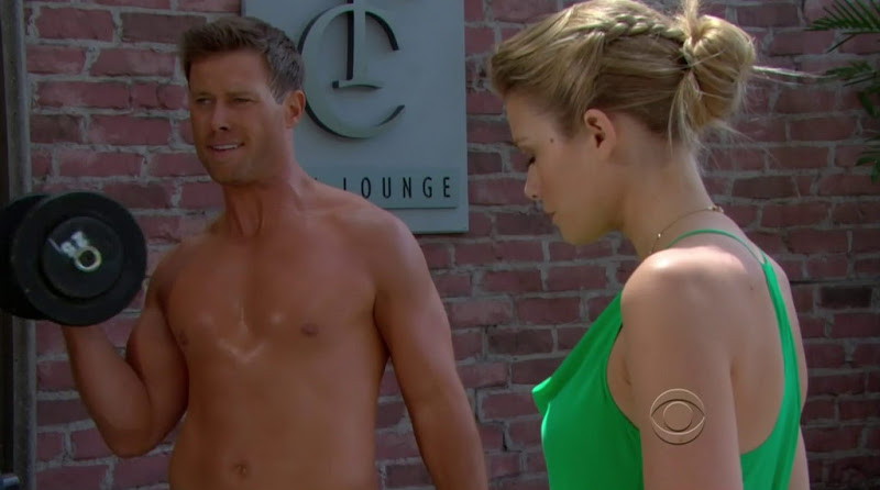Jacob Young Shirtless in the Bold and the Beautiful 20120807