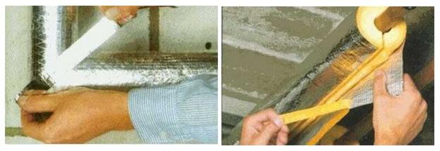 Монтаж обшивки отопительной трубы