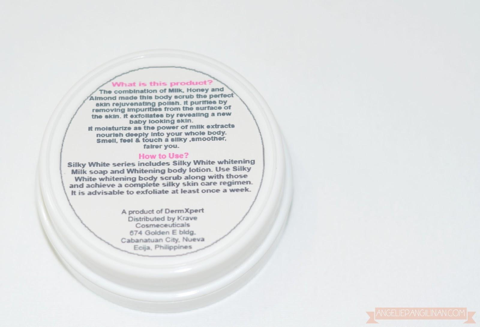 dermxpert silky white whitening body scrub