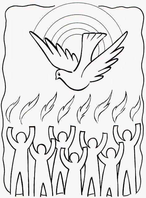 ESPIRITU SANTO: Espíritu santo para colorear