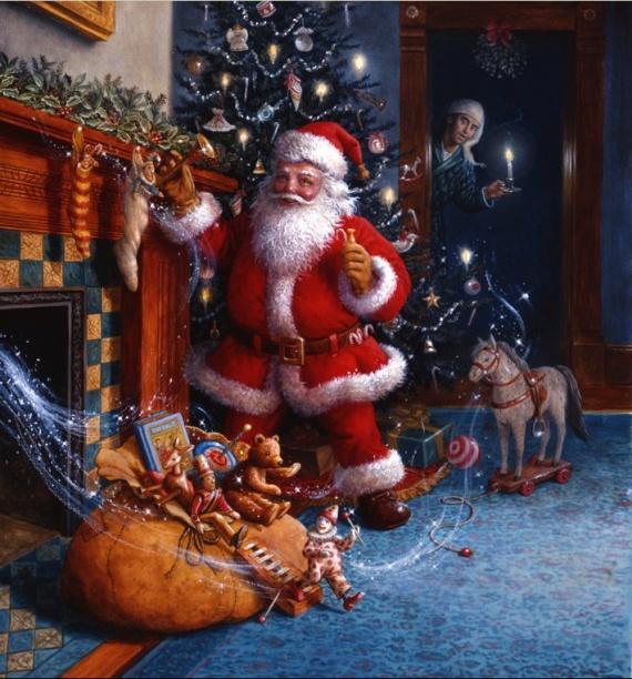 Santa claus la boutique du pere noel histoire du p re no l - Origine de la fete de noel ...