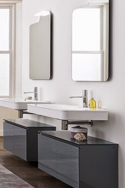 Bath tile talk artelinea stylish bath vanities and for Bathroom cabinets quebec