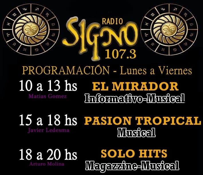 Programacion Radio Signo, REPRODUCTOR y Facebook Oficial.