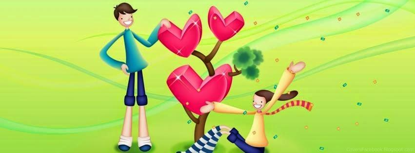 اغلفة فيس بوك رومانسية للشباب