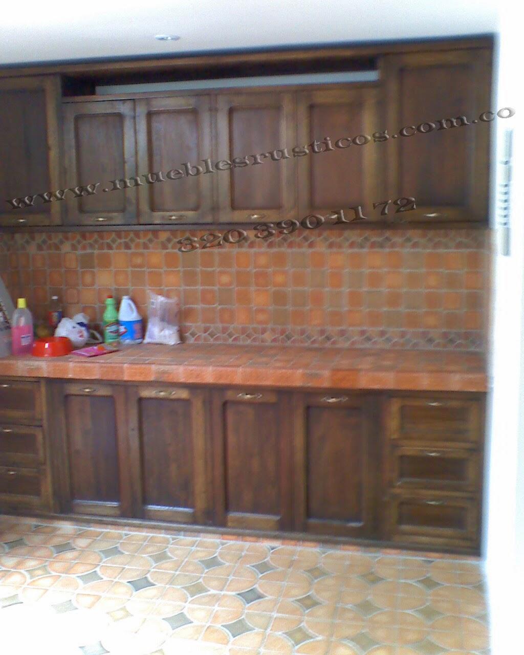 muebles rusticos bogota : cocinas integrales en madera