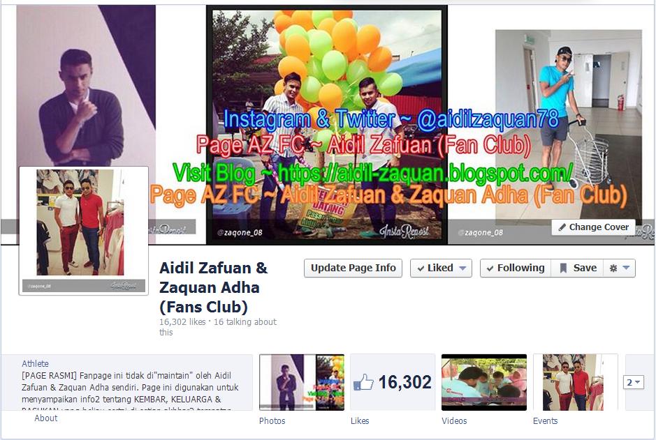 Page Aidil Zafuan & Zaquan Adha (Fan Club)