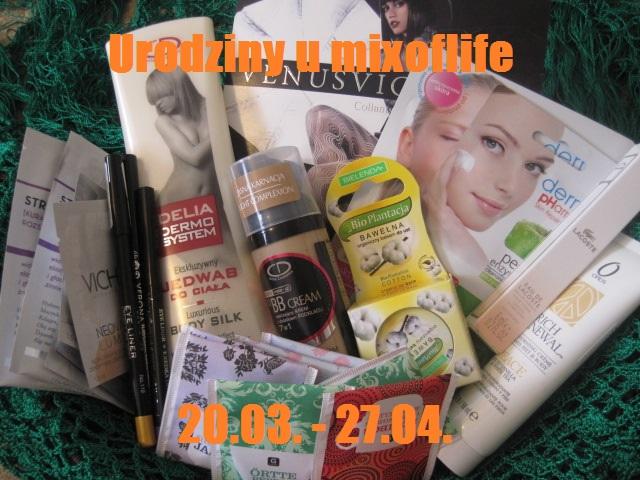darmowe kosmetyki, za darmo, wygrj kosketyki, kosmetyki do wygrania, rozdanie u mixoflife, kosmetyki na urodziny