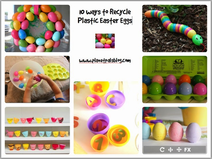 recycle plastic eggs craft
