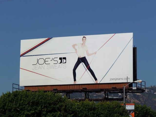 Joe's Jean sweats fashion billboard