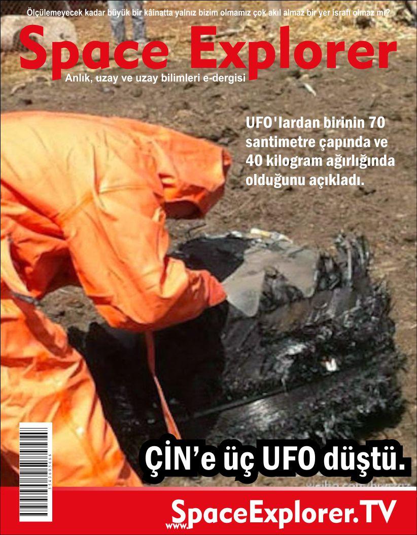 Çin'de yere Üç UFO Düştü