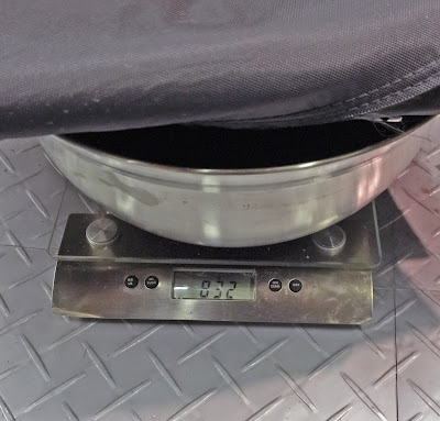 The boot cover (for cars with hood sticks) weighed in at 832g