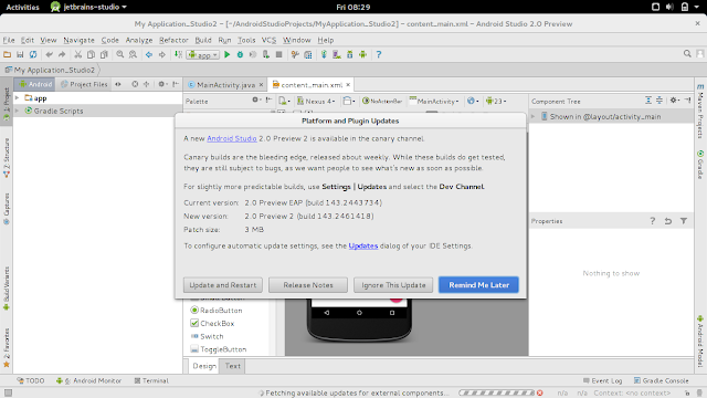 A Novel Android Studio 2.0 Preview Ii Is Available Inwards Canary Channel