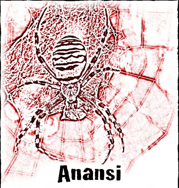 Authors electric fun with anansi lynne garner for Anansi the spider coloring pages