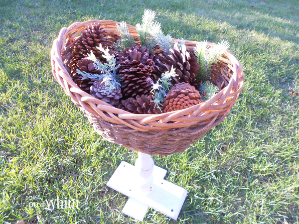 Basket Pedestal Stand from Denise on a Whim