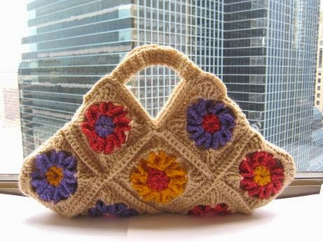 Granny Square Bag Free Pattern : of this bag so much. It is special to me because it is the first bag ...