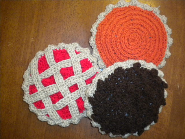 Catholic Homemaking Crocheted Cherry Pecan And Pumpkin Pie Patterns