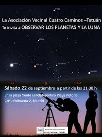 Observación de los planetas y luna