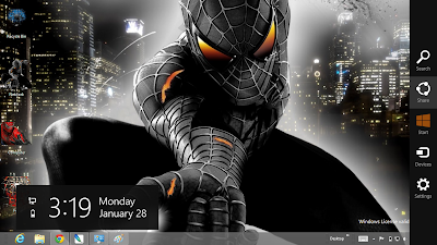 Black Spiderman 3 Windows 8 Theme