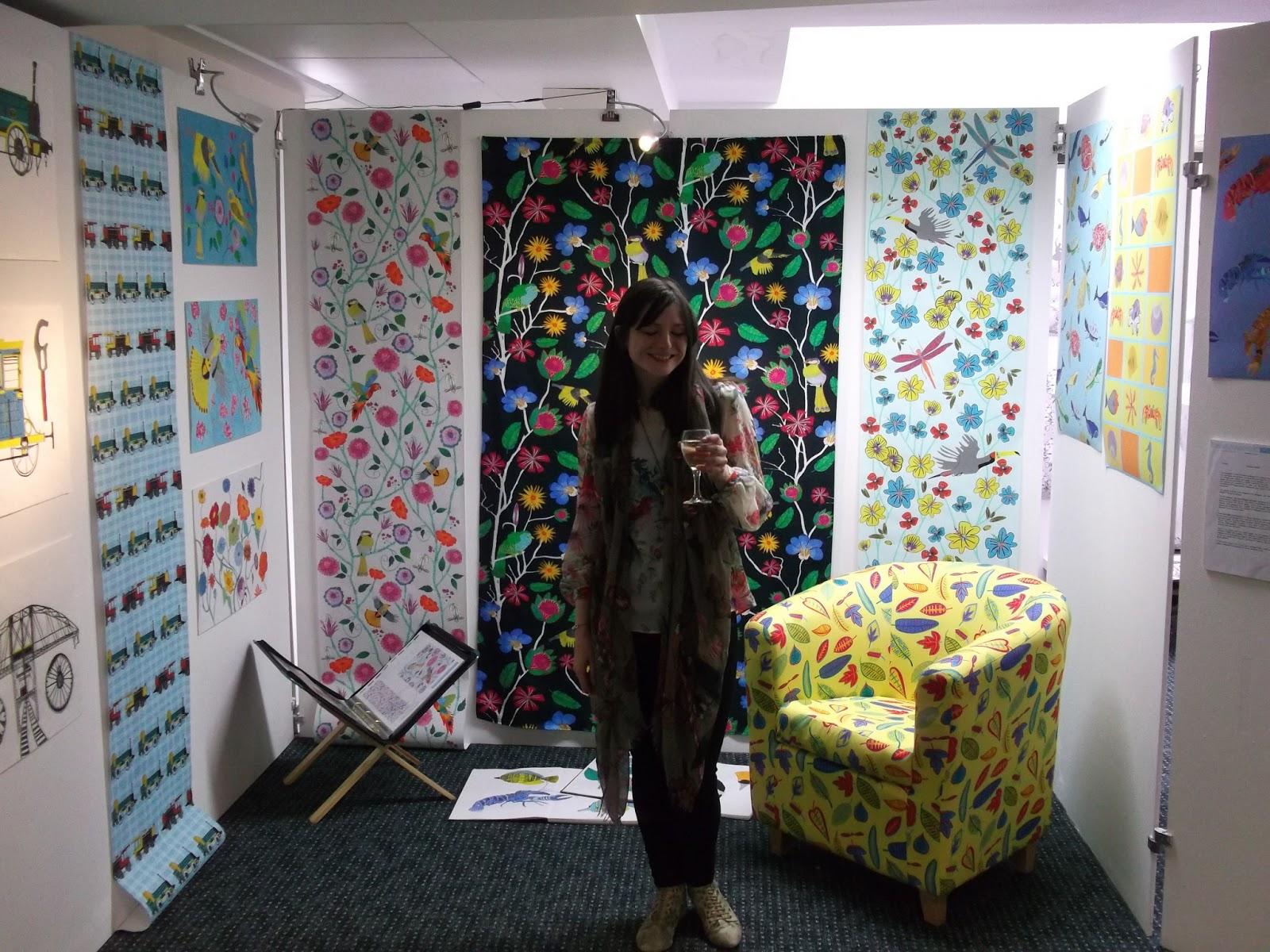 Exhibition Stand Evaluation : Abigayle coghlan textiles my degree show tropics
