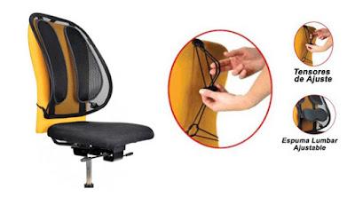 Respaldo de malla para silla