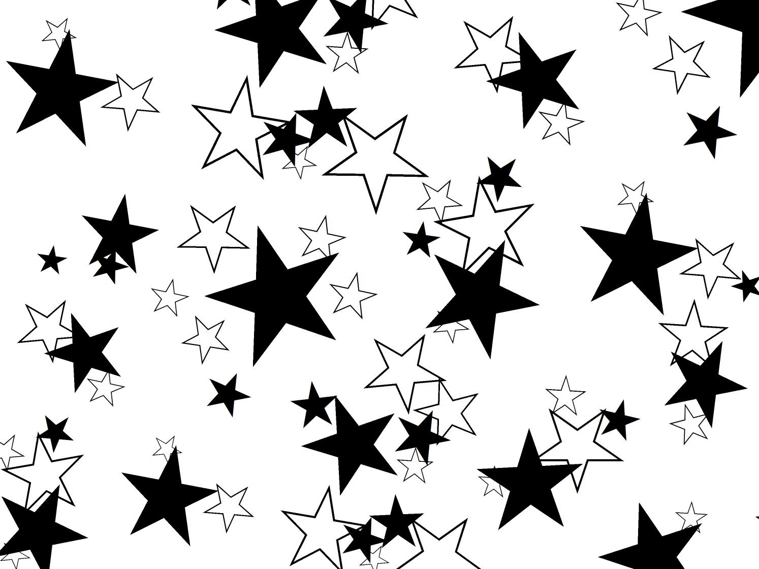 windows black and white stars
