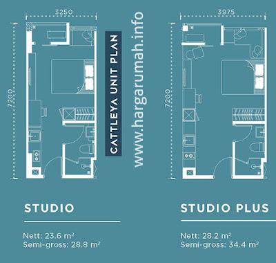 apartemen southeast capital cattleya unit plan