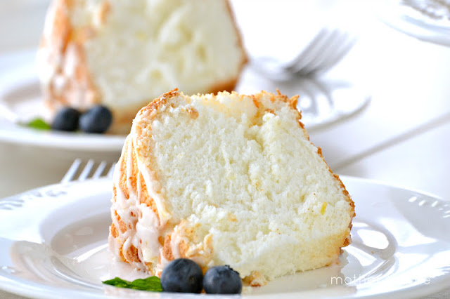 Lemon Angel Food Cake | www.motherthyme.com